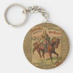 Vintage Western Buffalo Bill Wild West Show Poster Keychain