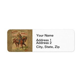 Vintage Western Buffalo Bill Wild West Show Poster Labels