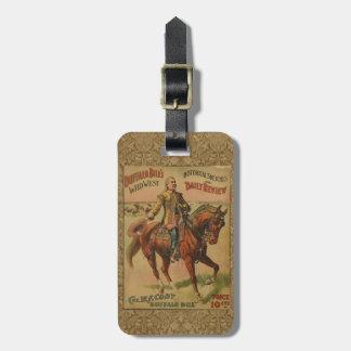 Vintage Western Buffalo Bill Wild West Show Poster Luggage Tag