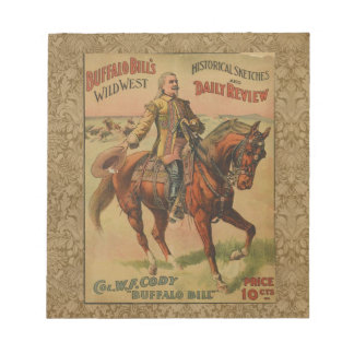 Vintage Western Buffalo Bill Wild West Show Poster Notepad