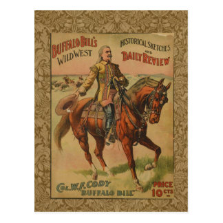 Vintage Western Buffalo Bill Wild West Show Poster Post Cards