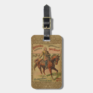 Vintage Western Buffalo Bill Wild West Show Poster Tag For Luggage