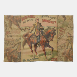 Vintage Western Buffalo Bill Wild West Show Poster Towels