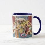 vintage western collage mug