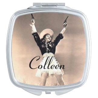 Vintage Western Compact Mirror