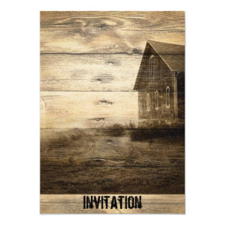vintage western country housewarming party invites