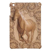 vintage western country leather horse case for the iPad mini