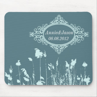 vintage western country rustic wedding mouse pad