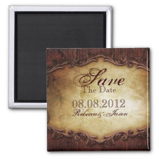 vintage western country wedding save the date magnet