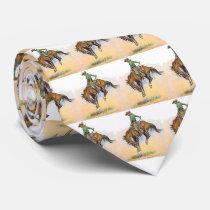 Vintage Western Cowboy Bucking Bronc Horse Necktie