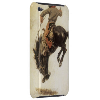 Vintage Western, Cowboy on a Bucking Bronco Horse Case-Mate iPod Touch Case