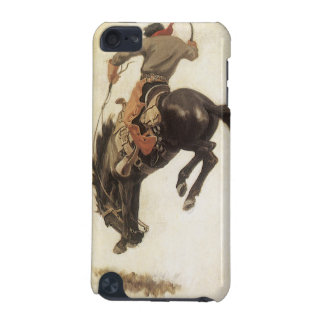 Vintage Western, Cowboy on a Bucking Bronco Horse iPod Touch (5th Generation) Case