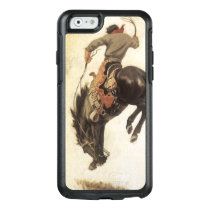 Vintage Western, Cowboy on a Bucking Bronco Horse OtterBox iPhone 6/6s Case