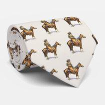 Vintage Western Cowboy On Horse Necktie