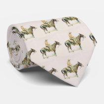 Vintage Western Cowboy Riding Mule Necktie