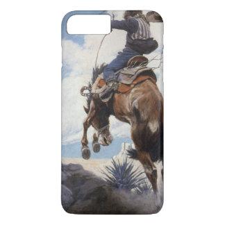 Vintage Western Cowboys, Bucking by NC Wyeth iPhone 8 Plus/7 Plus Case