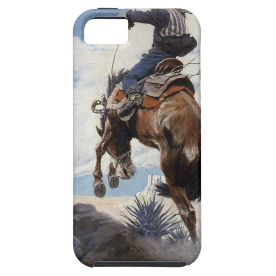 Vintage Western Cowboys, Bucking by NC Wyeth iPhone SE/5/5s Case