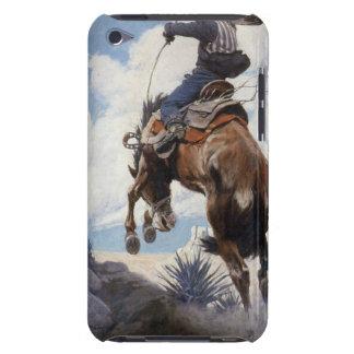 Vintage Western Cowboys, Bucking by NC Wyeth iPod Case-Mate Case