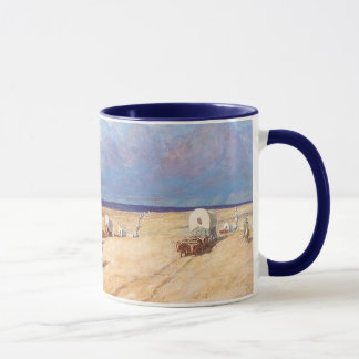 Vintage Western Cowboys, Covered Wagons by Wyeth Mug