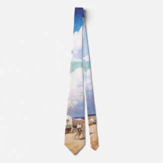 Vintage Western Cowboys, Covered Wagons by Wyeth Neck Tie