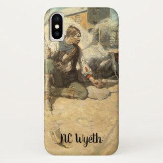Vintage Western Cowboys, Hopalong by NC Wyeth iPhone X Case