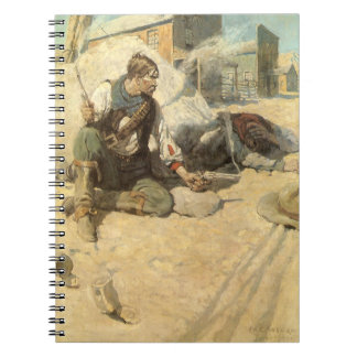 Vintage Western Cowboys, Hopalong by NC Wyeth Notebook