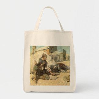 Vintage Western Cowboys, Hopalong by NC Wyeth Tote Bag