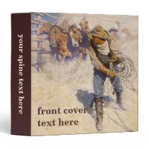 Vintage Western Cowboys, In the Corral by NC Wyeth Binder