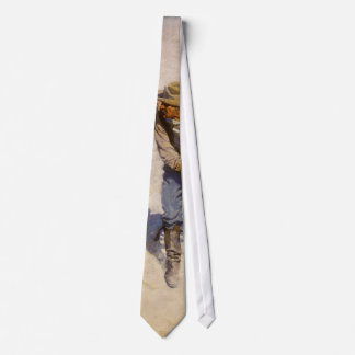 Vintage Western Cowboys, In the Corral by NC Wyeth Tie