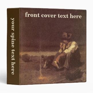 Vintage Western Cowboys, Plains Herder by NC Wyeth 3 Ring Binder