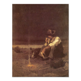 Vintage Western Cowboys, Plains Herder by NC Wyeth 4.25x5.5 Paper Invitation Card