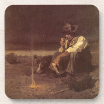 Vintage Western Cowboys, Plains Herder by NC Wyeth Drink Coaster