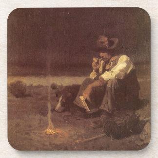 Vintage Western Cowboys, Plains Herder by NC Wyeth Drink Coaster