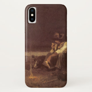 Vintage Western Cowboys, Plains Herder by NC Wyeth iPhone X Case