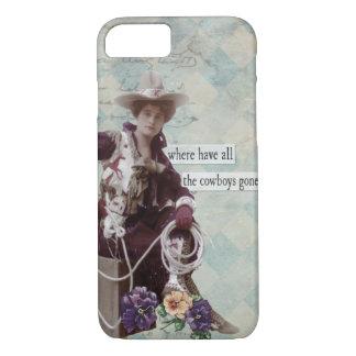 Vintage Western Cowgirl iPhone 7 case