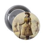 Vintage Western Cowgirl, Miss Annie Oakley 2 Inch Round Button