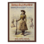 Vintage Western Cowgirl, Miss Annie Oakley Greeting Cards