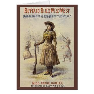 Vintage Western Cowgirl, Miss Annie Oakley Greeting Card