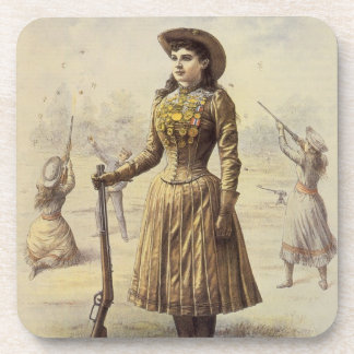 Vintage Western Cowgirl, Miss Annie Oakley Coasters