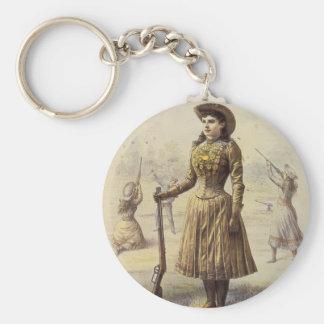 Vintage Western Cowgirl, Miss Annie Oakley Keychain