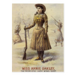 Vintage Western Cowgirl Miss Annie Oakley Post Card