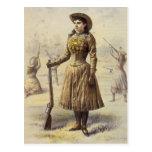 Vintage Western Cowgirl, Miss Annie Oakley Postcard