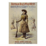 Vintage Western Cowgirl, Miss Annie Oakley Poster