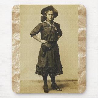 Vintage Western Cowgirl photo Mouse Pad
