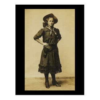 Vintage Western Cowgirl photo Post Card