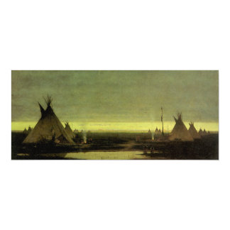 Vintage Western, Indian Camp at Dawn by Tavernier Card