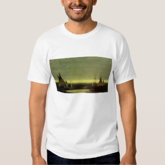 Vintage Western, Indian Camp at Dawn by Tavernier T-shirt
