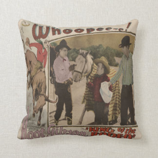 Vintage Western King Of The Rodeo Movie Poster Throw Pillow