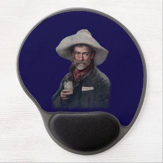 Vintage Western Man Gel Mouse Pad