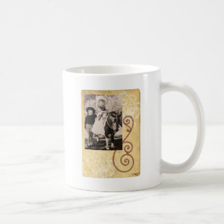 Vintage Western Photo Children Horse Coffee Mug